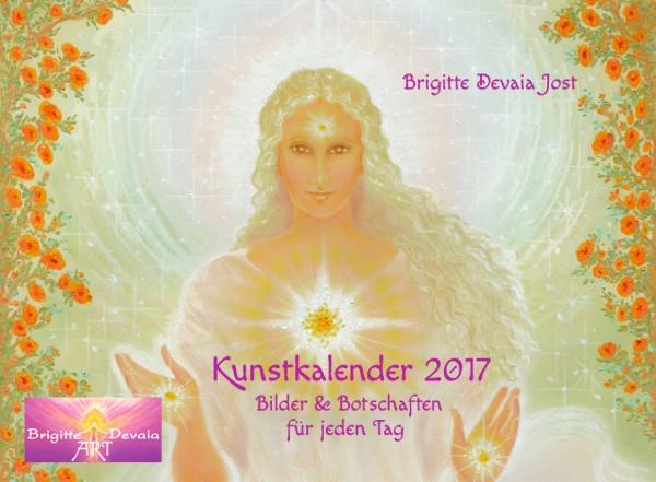 Kunstkalender 2017 mit täglichen Engel-Botschaften