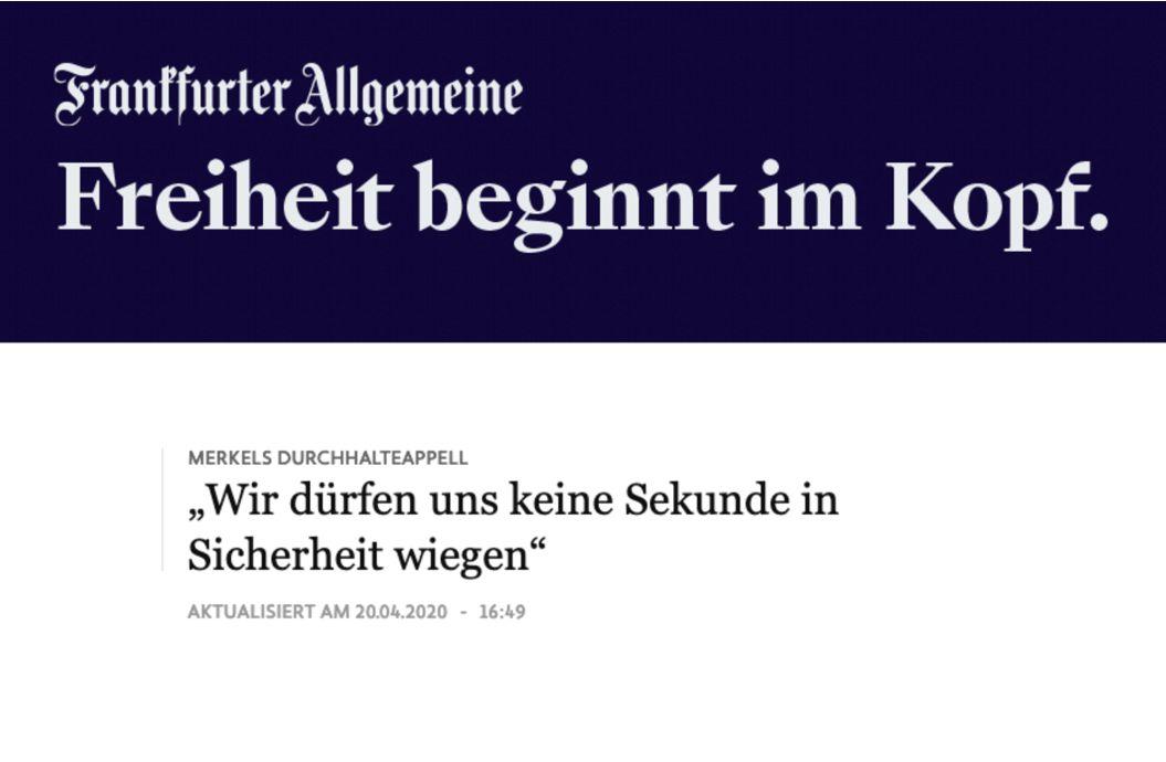 Merkel: Wir dürfen uns keine Sekunde in Sicherheit wiegen