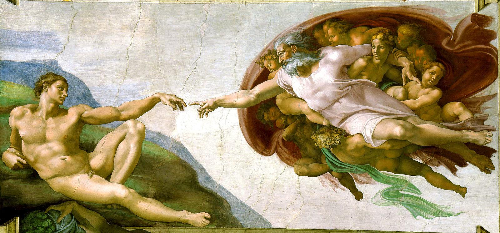 Gott erschafft Adam