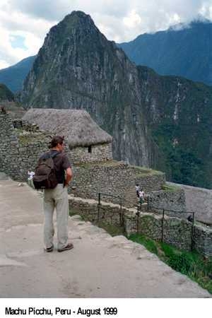 Jan van Helsing in Machu Picchu, Peru, August 1999